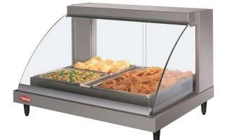 Как выбрать для кафе и ресторана лучшие модели тепловых витрин, их виды, характеристики, особенности конструкций.