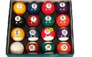 Рейтинг лучших бильярдных шаров с ценами, фото, описанием, плюсами, минусами, критерии выбора
