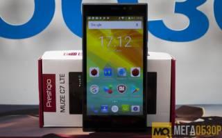 Обзор смартфона Prestigio Muze C7 LTE — достоинства и недостатки